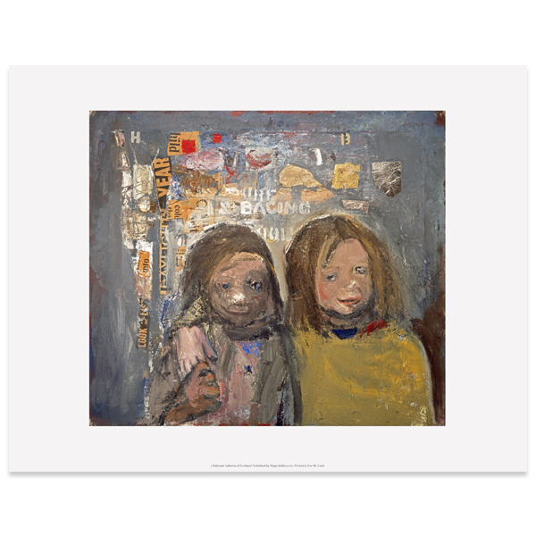 Children and Chalked Wall 3 Joan Eardley Art Print