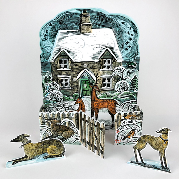 Christmas cottage advent calendar