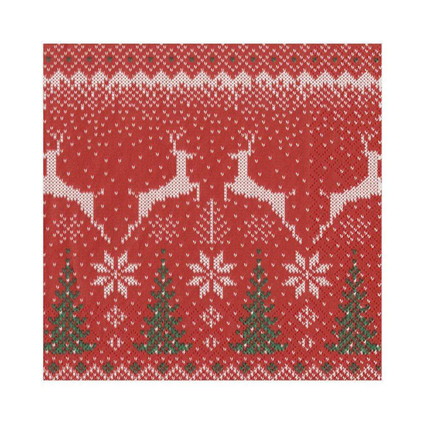 Christmas fair isle jumper napkin pack (20 napkins)