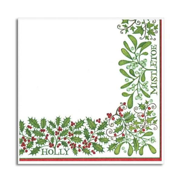Holly and mistletoe napkin pack (20 napkins)