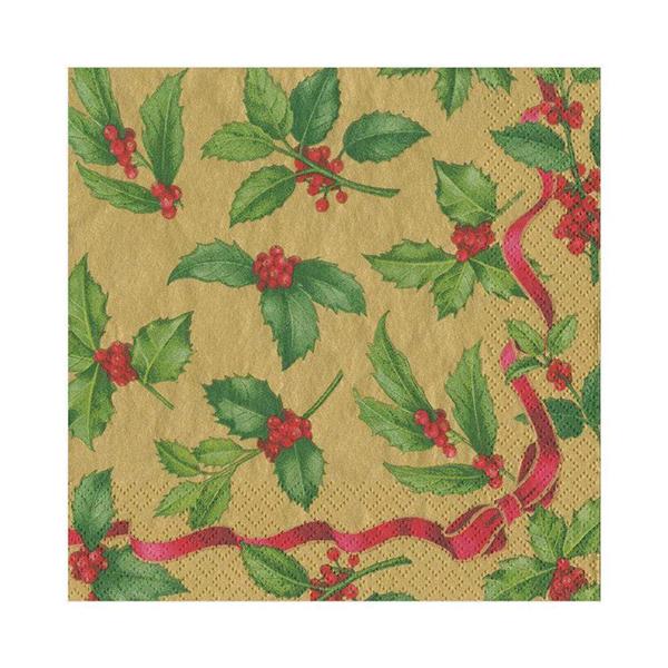 Christmas holly napkin pack (20 napkins)