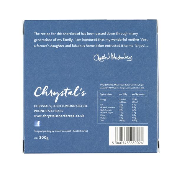 Chrystal's Handmade Scottish Shortbread 300g box