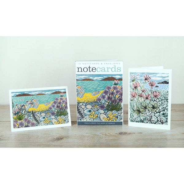 Coastal flowers notecard set