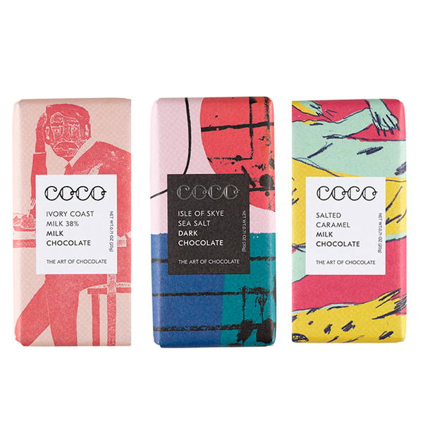 Coco chocolate mini bar mixed flavour bundle (3 x 20g)
