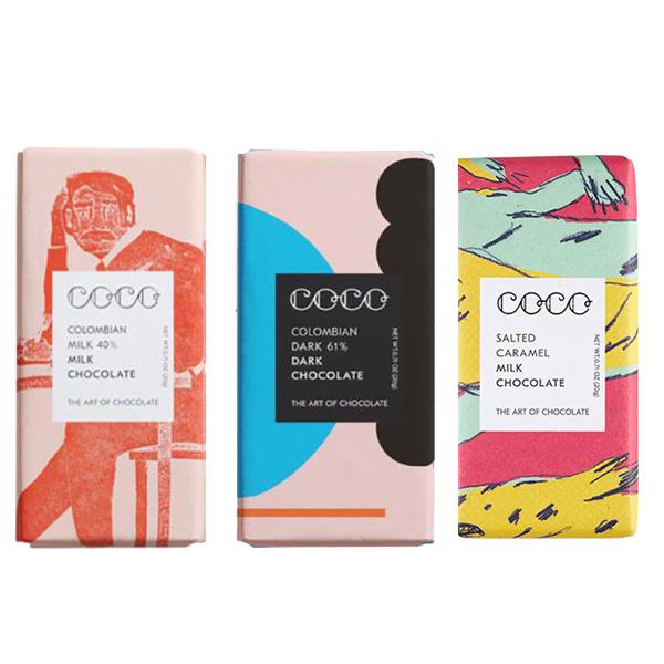 Coco chocolate mini bar mixed flavour bundle (3 x 20g)