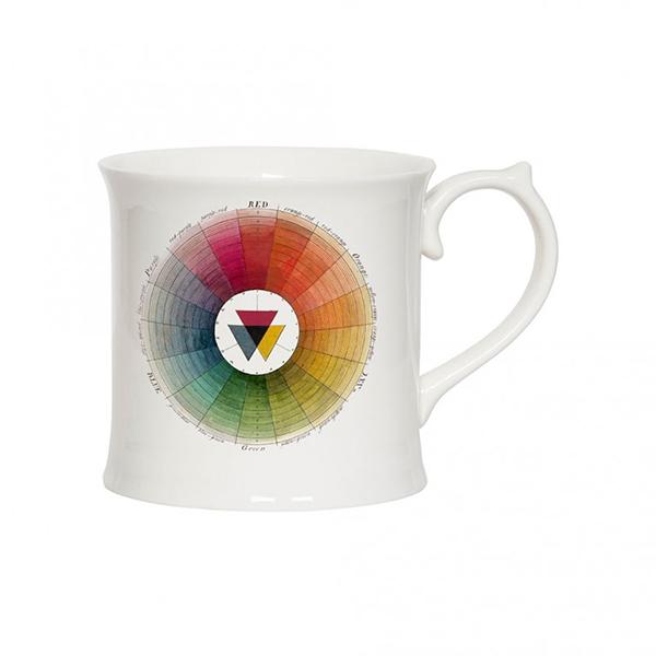 Colour theory wheel illustrated china mug