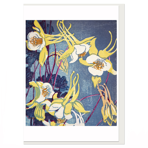 Columbines by Mabel Royds greeting card