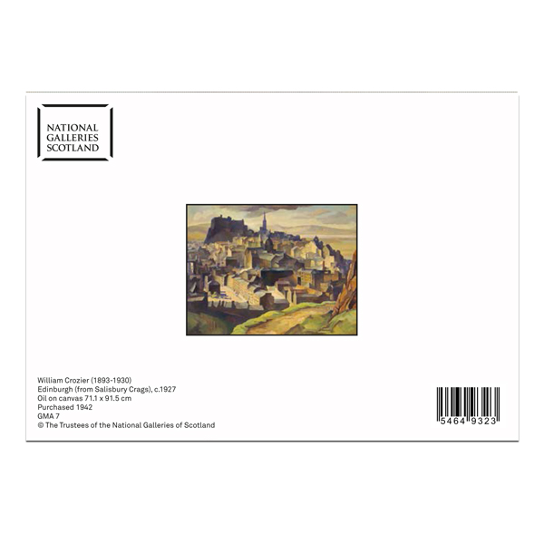 Edinburgh (from Salisbury Crags) William Crozier Greeting Card