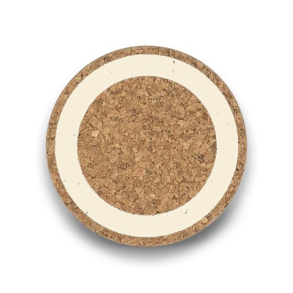 Cream earth cork coaster