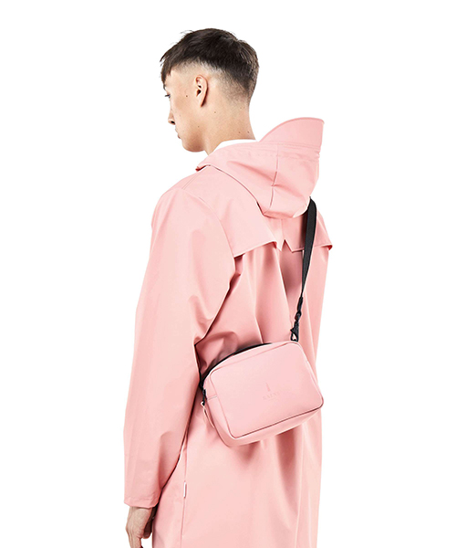 Cross body pink waterproof bag