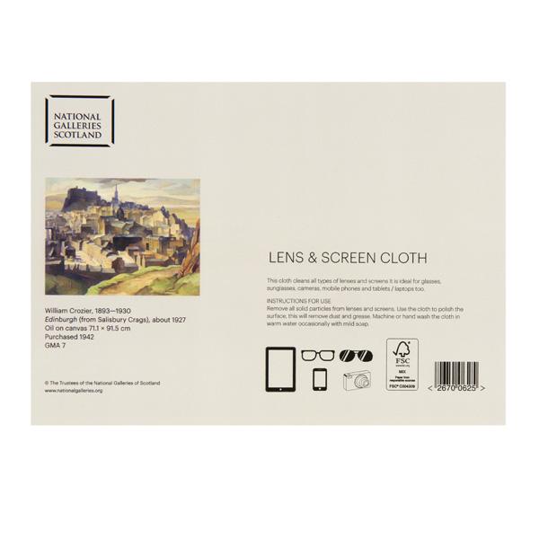 Edinburgh (from Salisbury Crags) William Crozier Lens Cloth