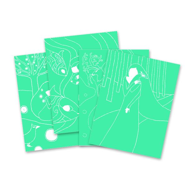 Djeco Scratch Cards Odine