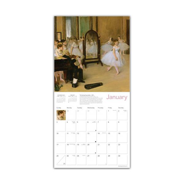 Degas' dancers 2021 wall calendar