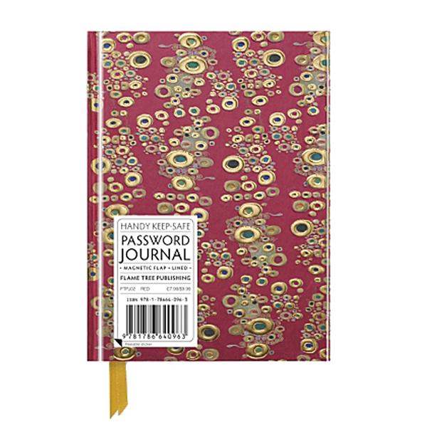 Detail From The Kiss Gustav Klimt Password Notebook