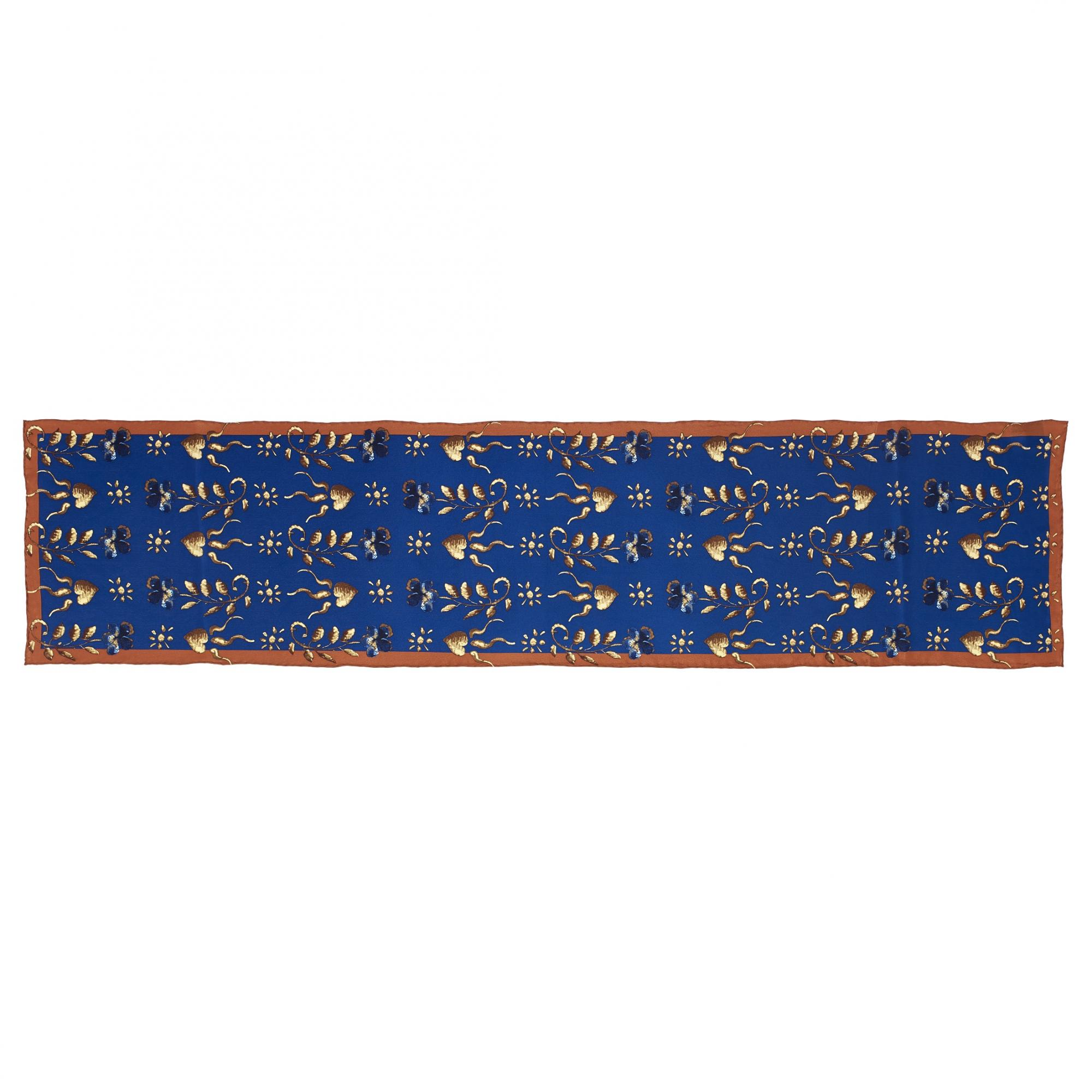 Detail of Lady Mary Erskine by George Jamesone blue silk scarf