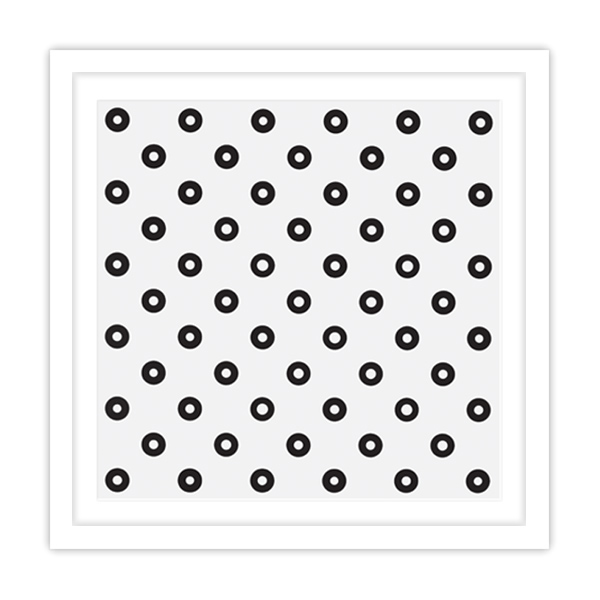 Dilated Centres by Bridget Riley framed print (white)