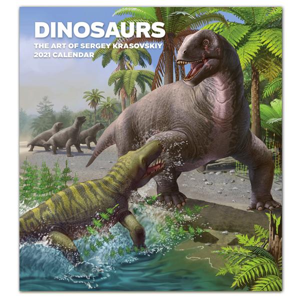 Dinosaurs: The Art of Sergey Krasovskiy 2021 Wall Calendar