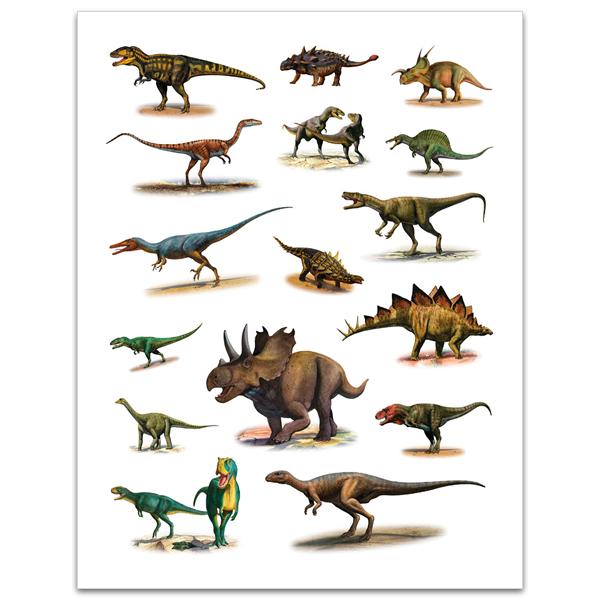 Dinosaurs sticker book (reusable stickers)