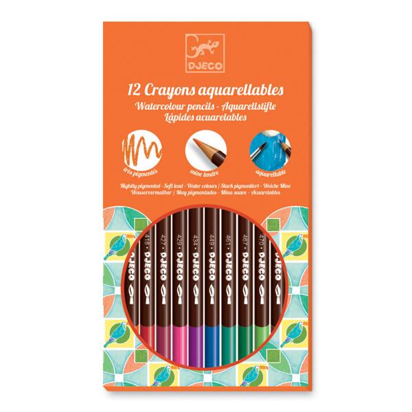 Djeco Box of 12 Watercolour Pencils