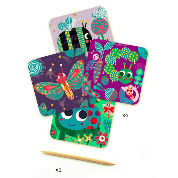 Bugs scratch cards pack