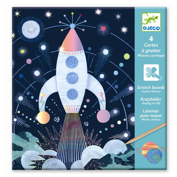 Djeco Cosmic Mission Scratch Cards Set