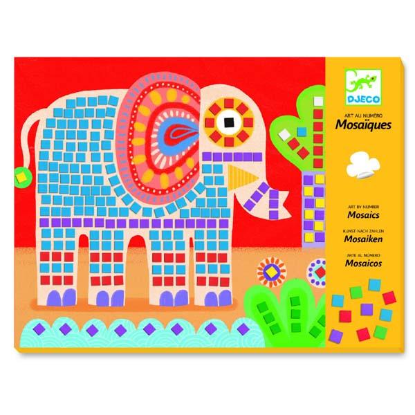 Elephant and snail mosaic art set