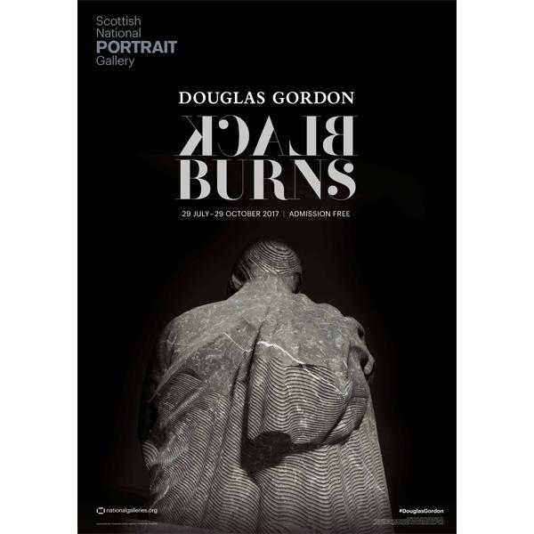 Douglas Gordon | Black Burns exhibition poster