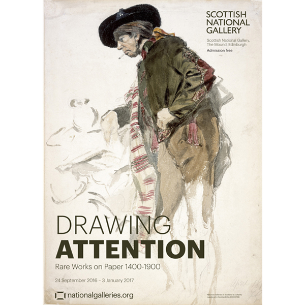 Drawing Attention Rare Works on Paper 1400-1900 exhibition poster