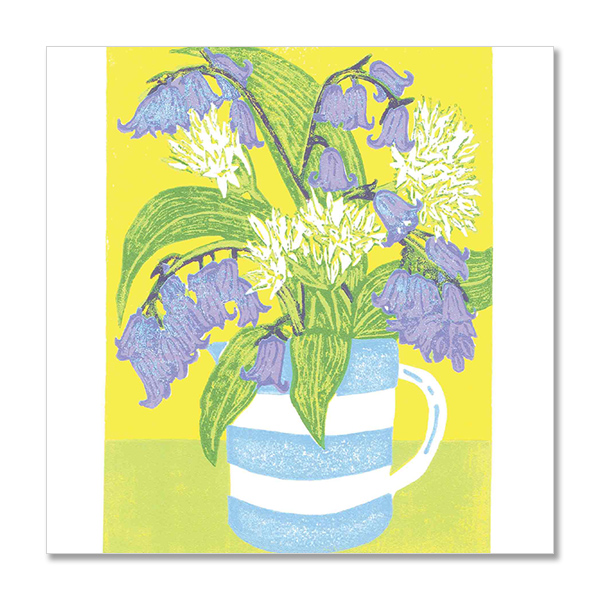 Bluebells and ramsons greeting card