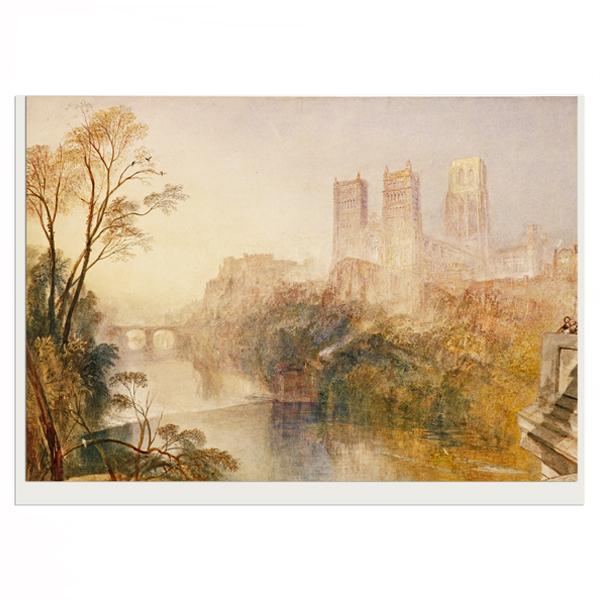 Durham by JMW Turner greeting card