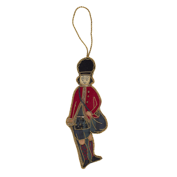 Earl of Eglinton tartan beaded fabric Christmas decoration