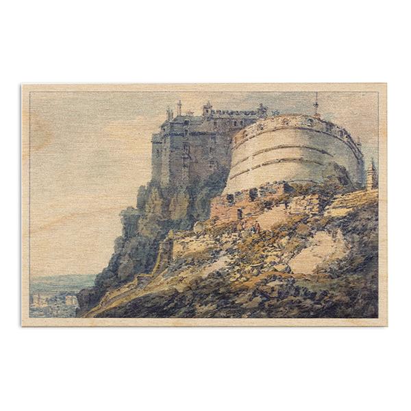 Edinburgh Castle by Joseph Mallord William Turner wooden postcard