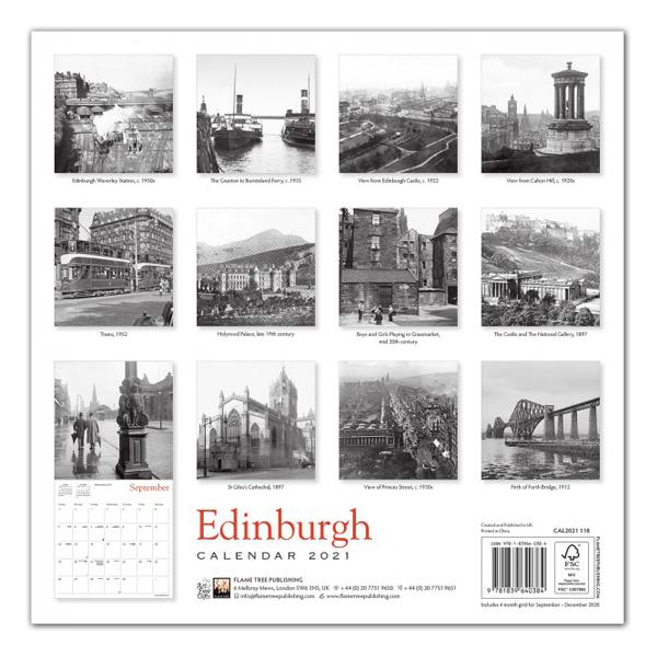 Edinburgh Heritage 2021 wall calendar