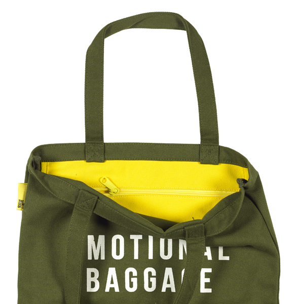 Emotional Baggage Tote Bag Khaki