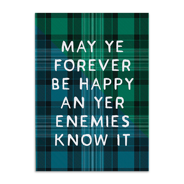 May ye forever be happy tartan greeting card