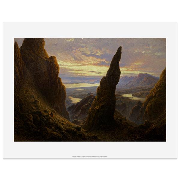 Entrance to the Cuiraing Skye by Waller Hugh Paton art print