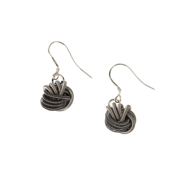 Bologna silver and grey coloured earrings