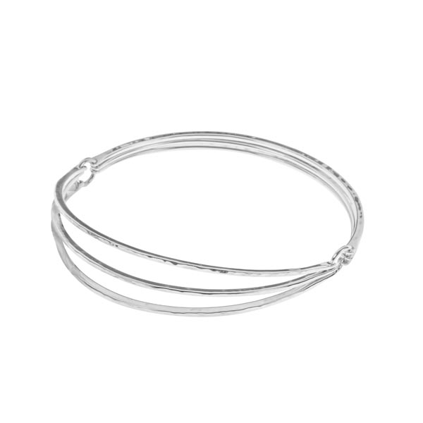 Flexible layered silver bangle