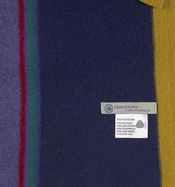 Green Grove Fontana Indigo Wool Scarf