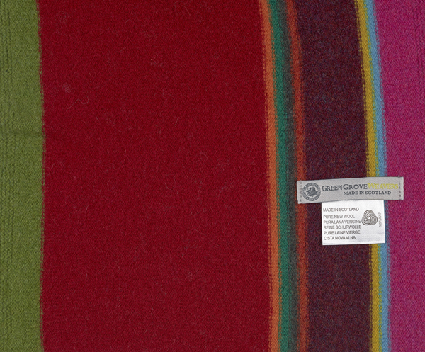 Green Grove Fontana Scarlet Wool Scarf