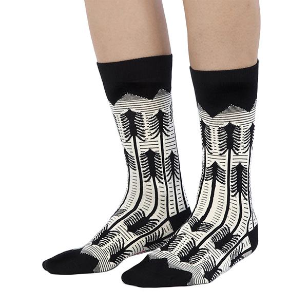 Forest pattern unisex cotton socks (size 7.5-11.5)