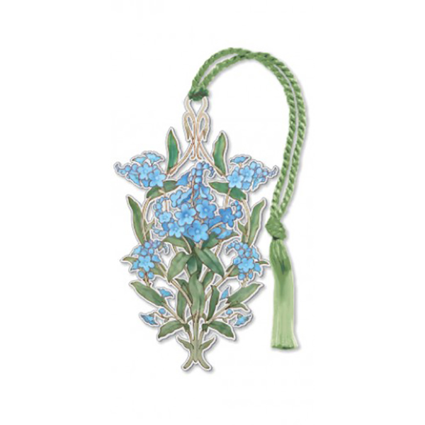 Forget-me-not brass bookmark