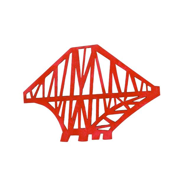 Forth Rail Bridge large wooden red decoration