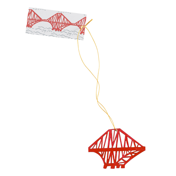 Forth Rail Bridge medium wooden red decoration