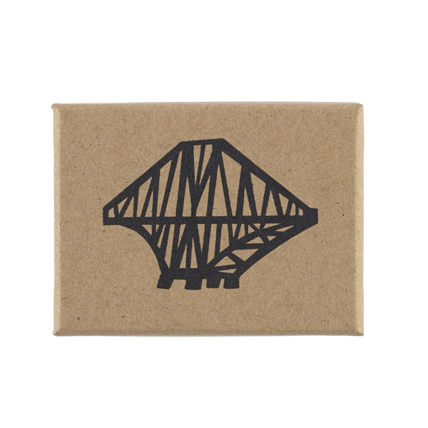 Forth Rail Bridge small wooden red decoration