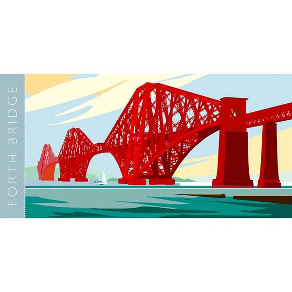 Forth Rail bridge graphic ceramic mug