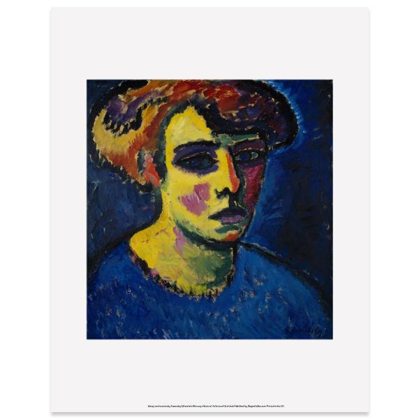 Frauenkopf [Head of a Woman] by Alexej von Jawlensky art print