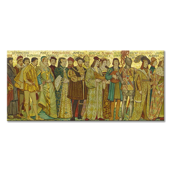 Processional Frieze Mary Queen of Scots Panoramic Fridge magnet