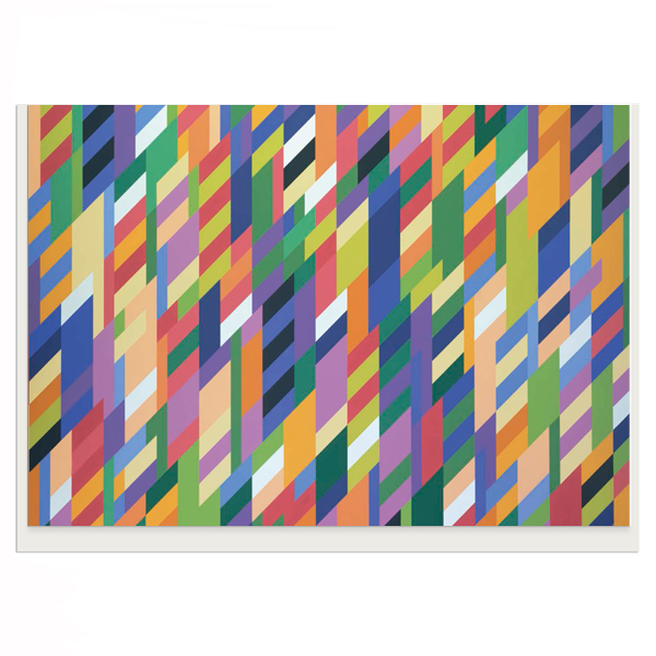 From Here by Bridget Riley greeting card