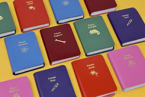 Future poet small purple leather notebook
